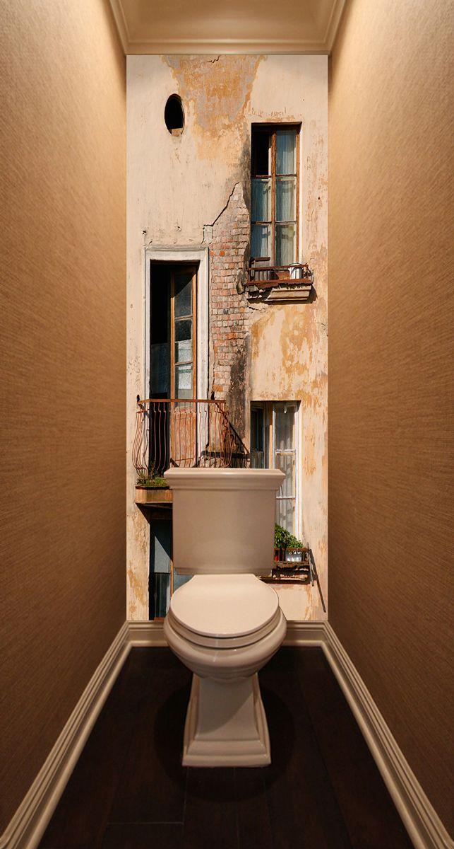 Фотообои в туалет - Балкон магазин Интерьерные наклейки