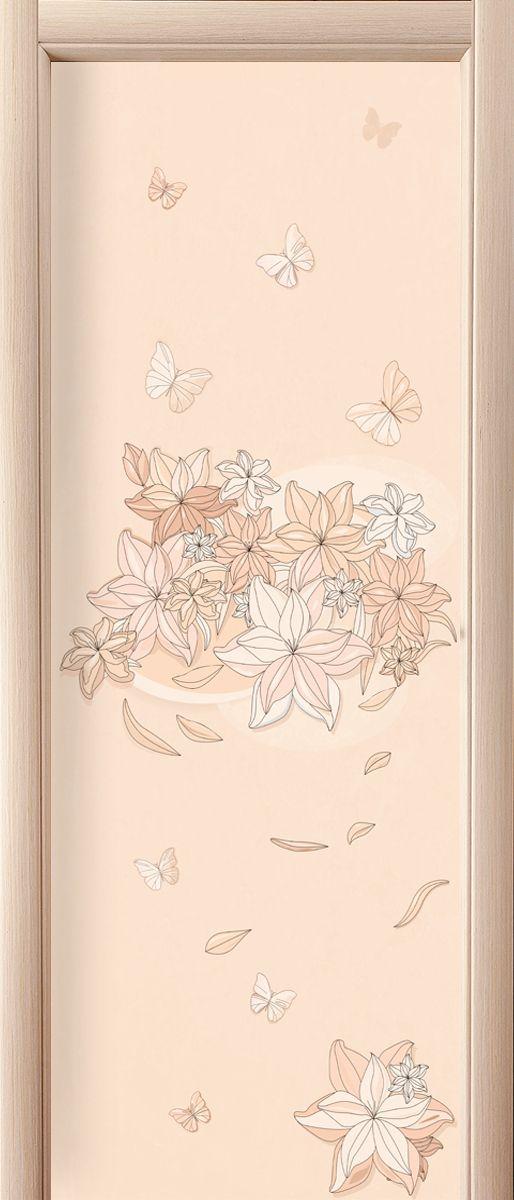 Наклейка на дверь - Floral-1 | магазин Интерьерные наклейки