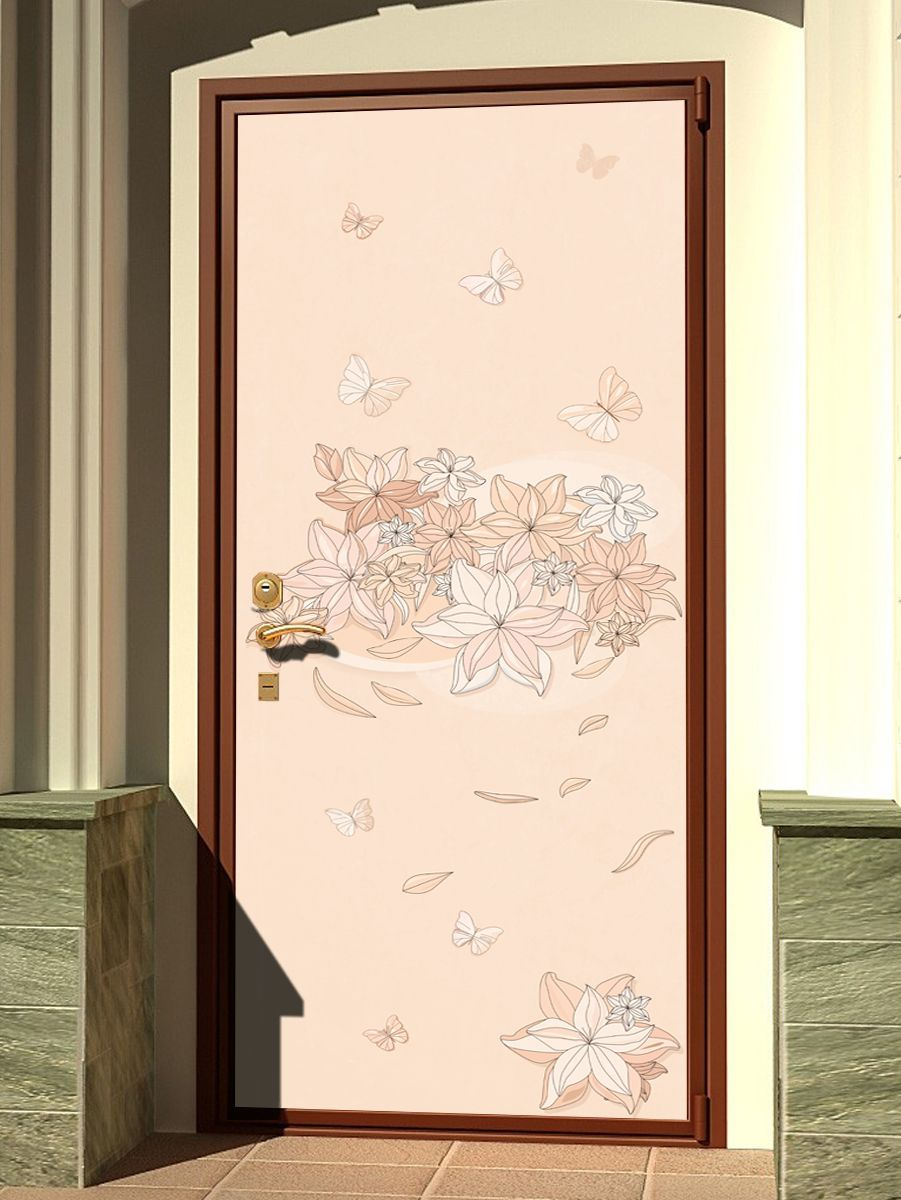 Door sticker -  Floral-1 by X-Decor