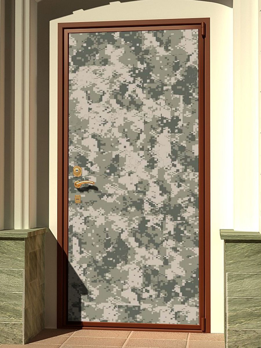 Door sticker - Camouflage Pixel by X-Decor