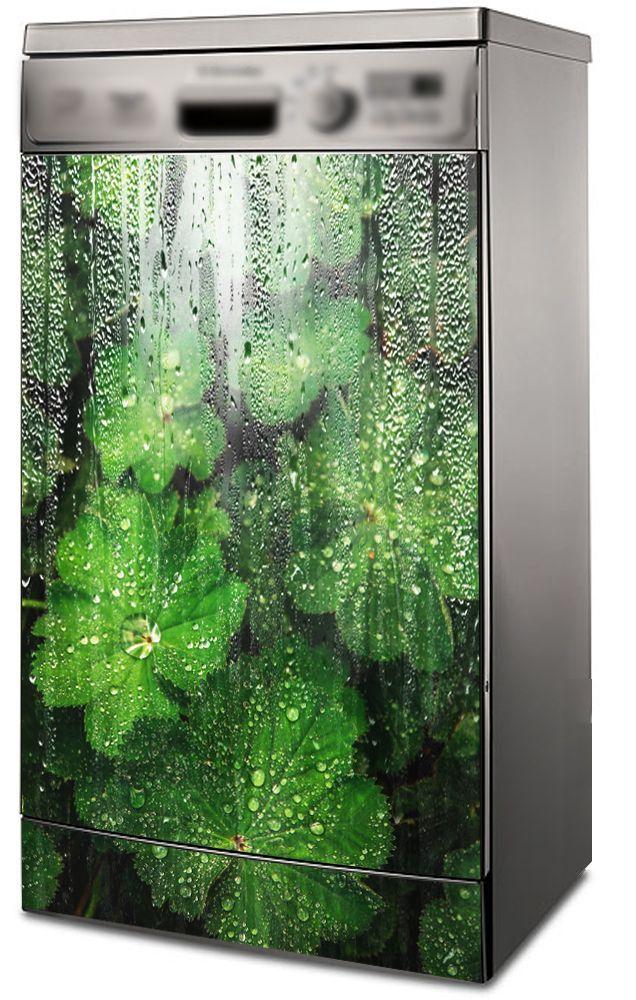Наклейка на посудомоечную машину - Под дождём