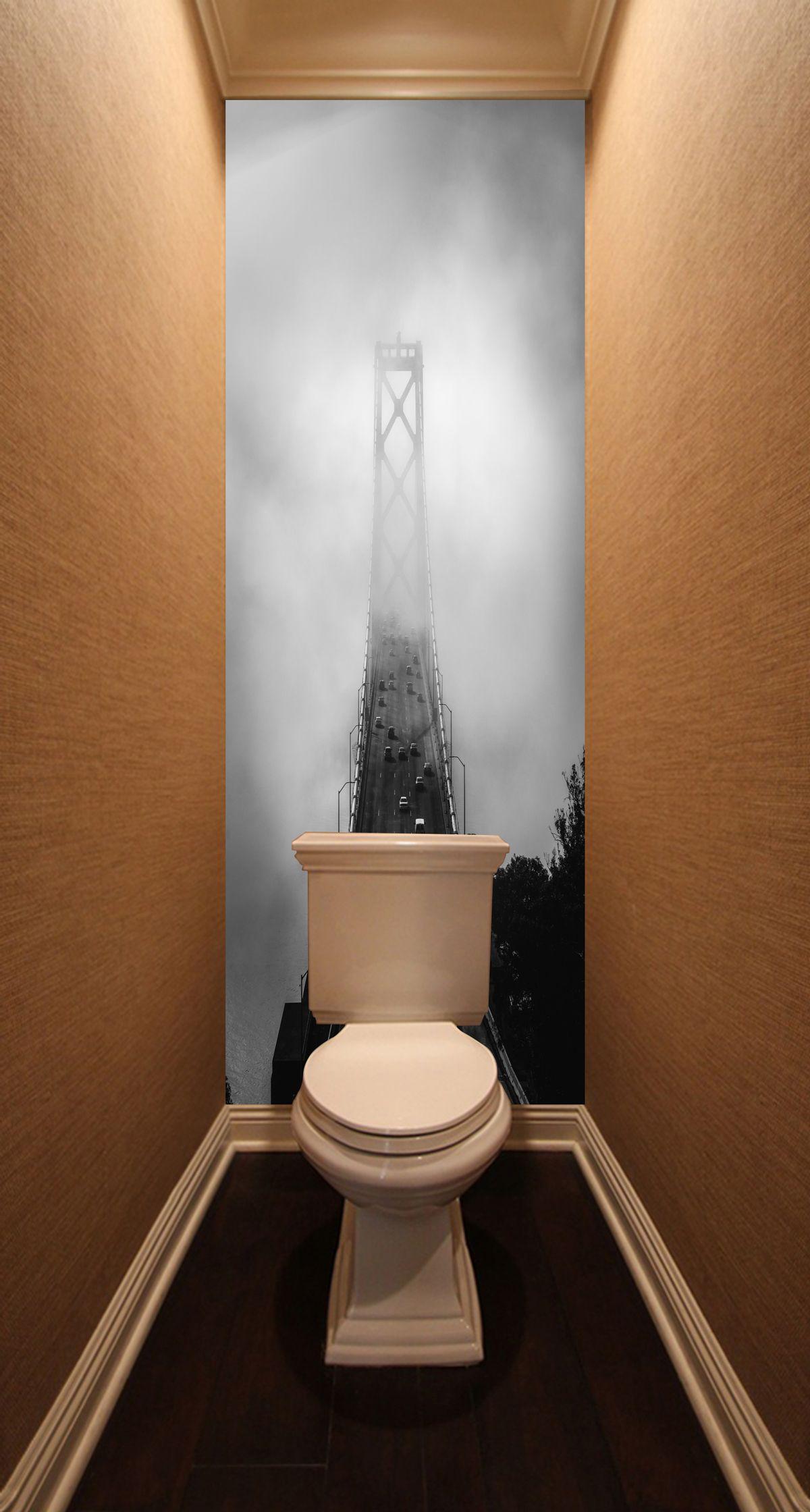 Фотообои в туалет - Дорога сквозь облака купить в магазине Интерьерные наклейки