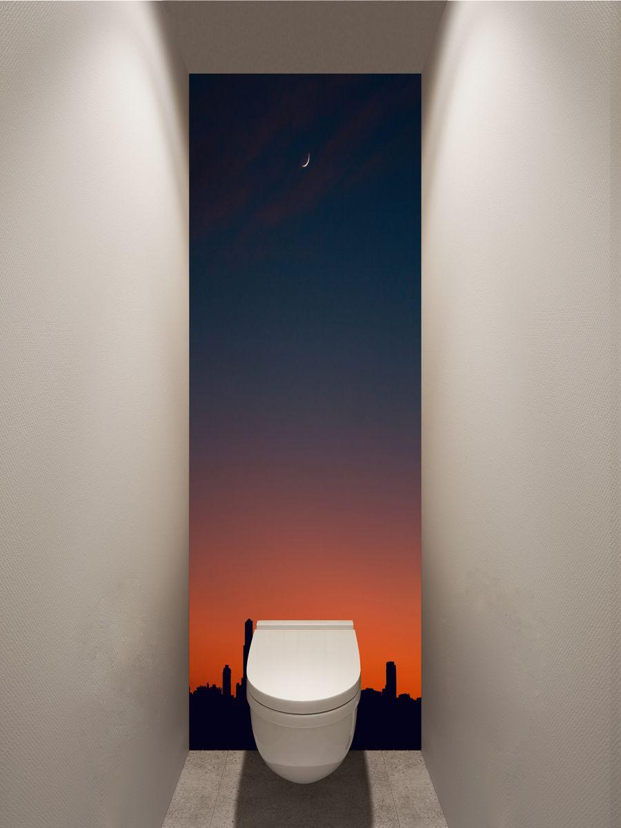 Фотообои в туалет - Силуэт города магазин Интерьерные наклейки