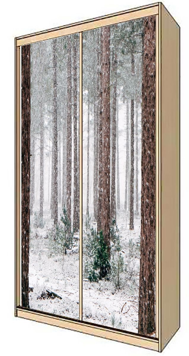 Wardrobe Stickers - Pine trees can't hide from the snow by X-Decor