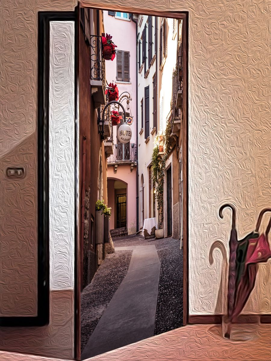 Door sticker - Quiet street by X-Decor
