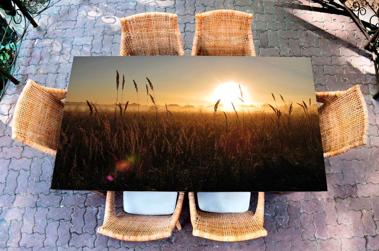 Наклейка на стол - рассвет в сентябре | Купить фотопечать на стол в магазине Интерьерные наклейки