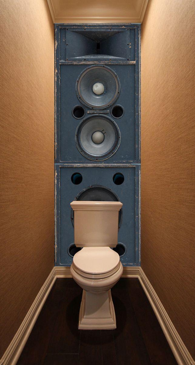 Фотообои в туалет - Источник звука магазин Интерьерные наклейки