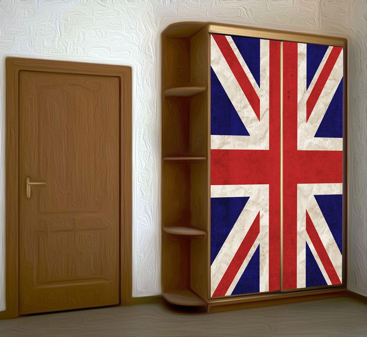 Наклейка на шкаф -  Union jack