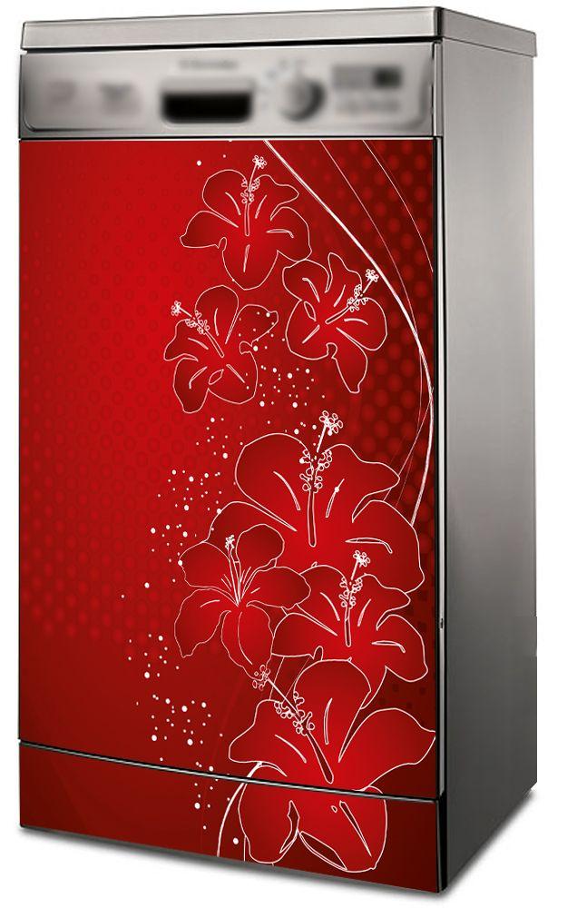 Наклейка на посудомоечную и стиральную машину - Оттенки красного