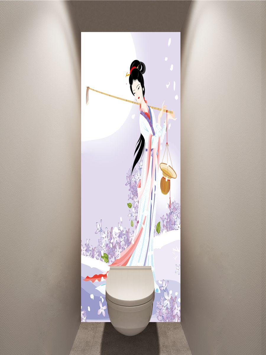 Фотообои в туалет - Муза сельхозугодий магазин Интерьерные наклейки