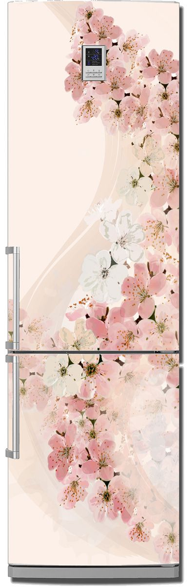Наклейка на холодильник - Вуаль весны