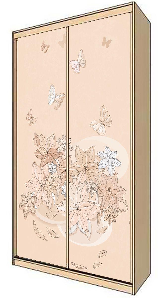Наклейка на шкаф-купе - Floral-1