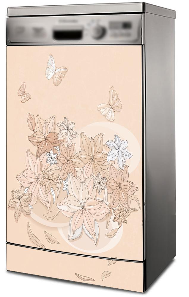 Наклейка на посудомоечную и стиральную машину -  Floral-1