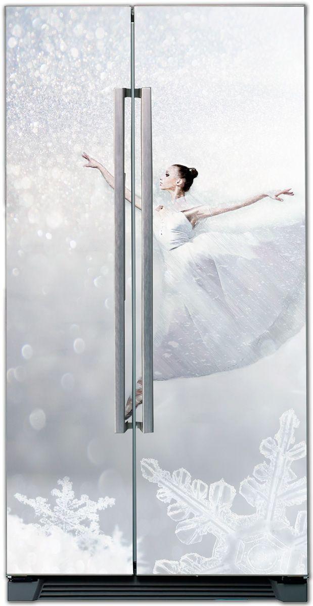 Наклейка на холодильник - Холодно? Попрыгай купить в магазине Интерьерные наклейки