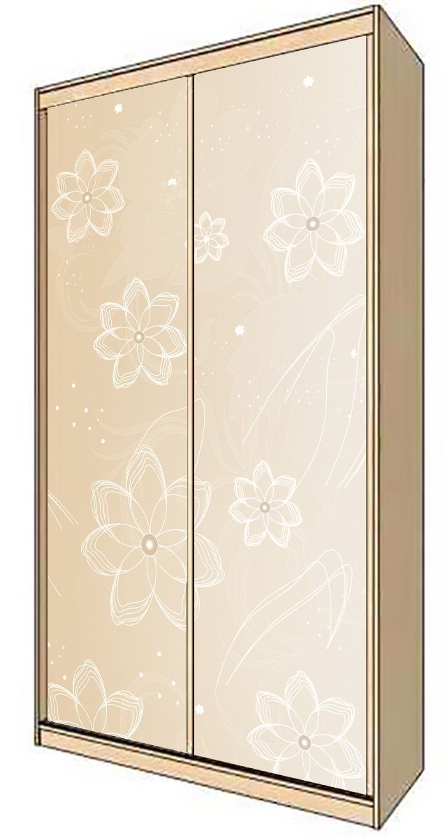 Wardrobe Stickers - Flower latte by X-Decor