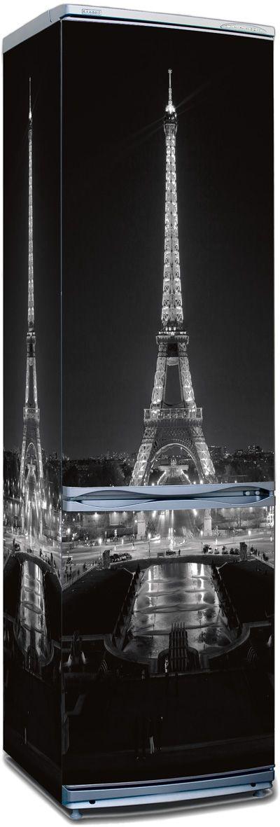 наклейка на холодильник -  Париж ночь в магазине Интерьерные наклейки