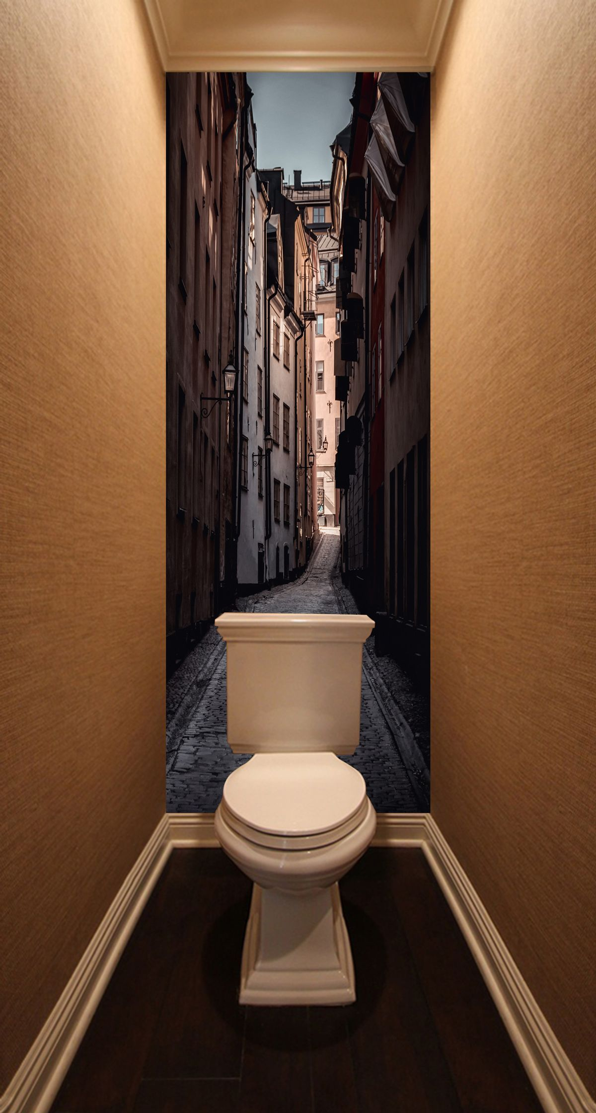 Фотообои в туалет - Улочка купить в магазине Интерьерные наклейки