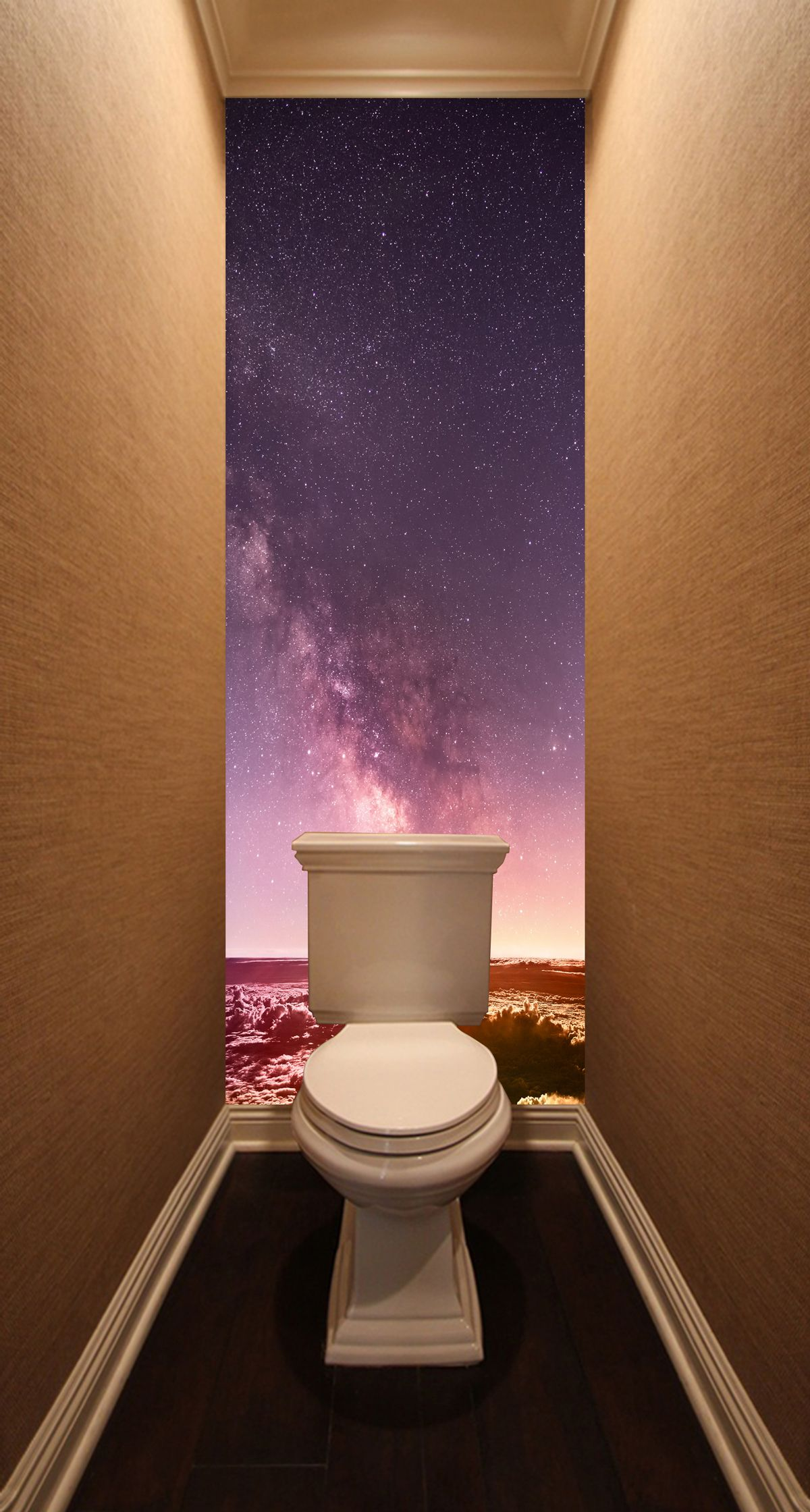 Фотообои в туалет - Над облаками купить в магазине Интерьерные наклейки