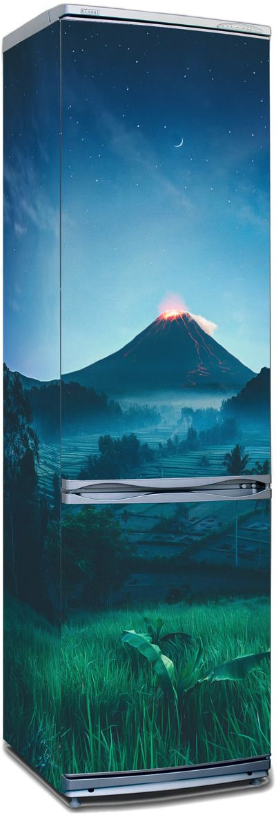 Fridge Sticker - Foot of the volcano by X-Decor
