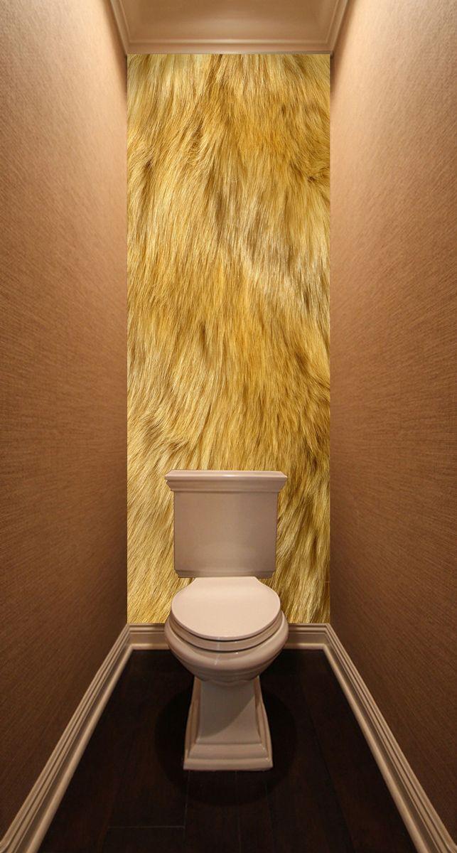 Фотообои в туалет - Шерсть льва магазин Интерьерные наклейки