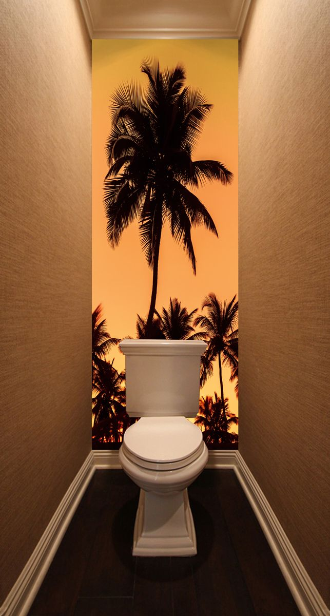 Фотообои в туалет - Финики магазин Интерьерные наклейки