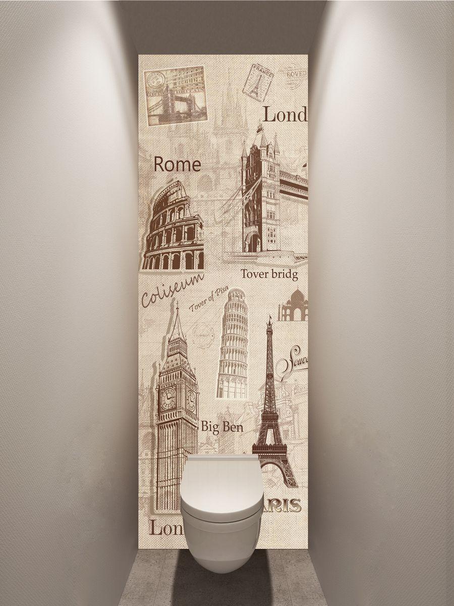 Фотообои в туалет - Сувенир магазин Интерьерные наклейки