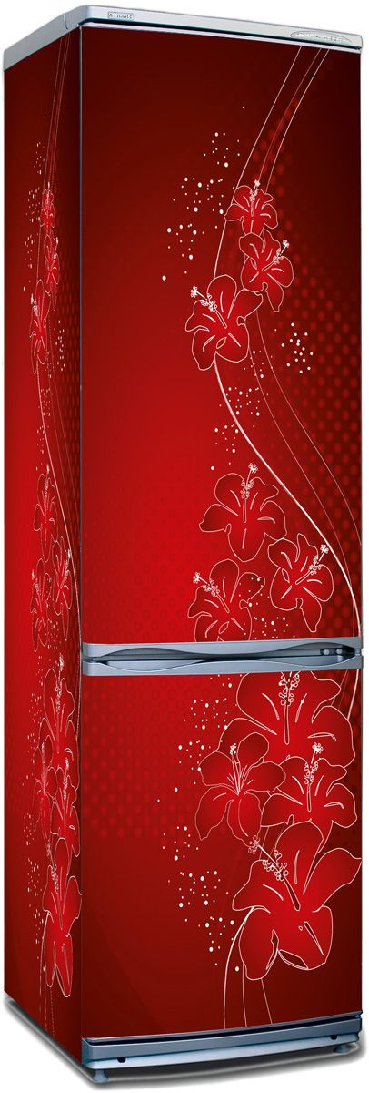 Fridge Sticker - Shade of red by X-Decor