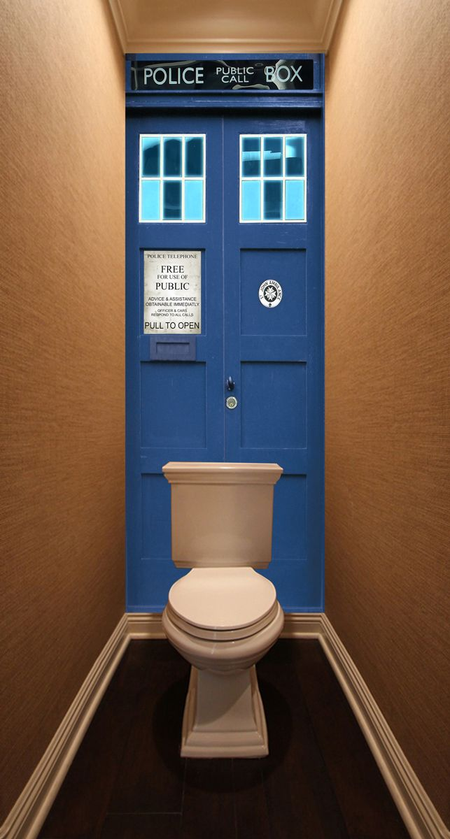 Фотообои в туалет - Police Box магазин Интерьерные наклейки