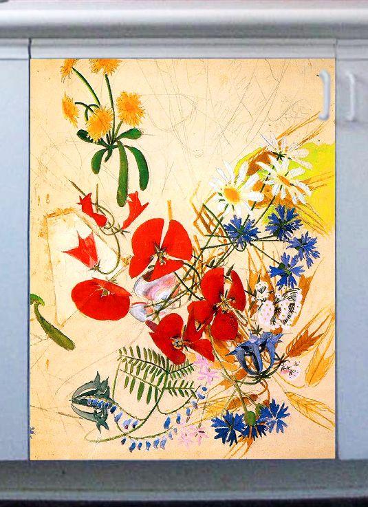 наклейка на посудомоечную машину - Полевые цветы