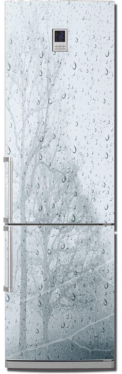 наклейка на холодильник - ветер и дождь