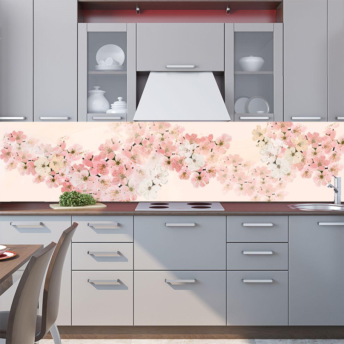 Kitchen Backsplash - Spring veil