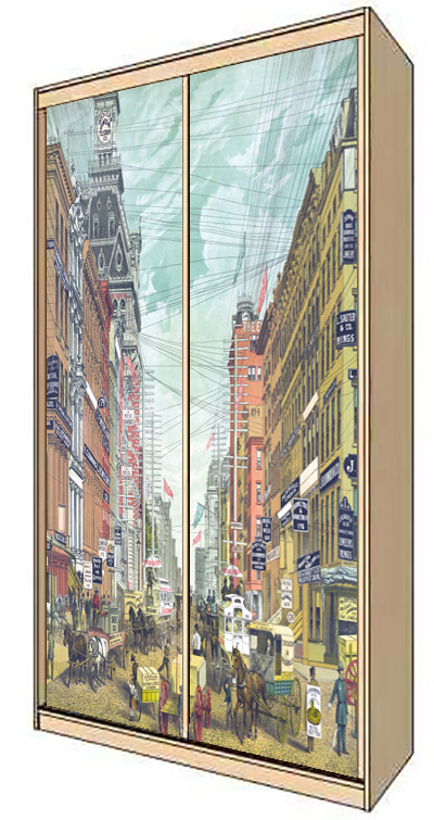 Wardrobe Stickers - Broadway 1885 by X-Decor