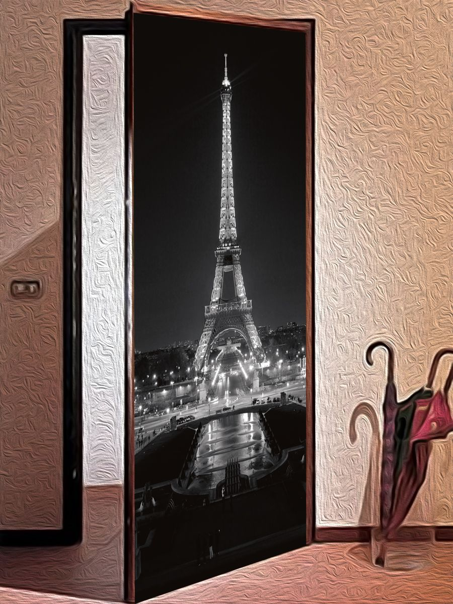 Door sticker - Paris night by X-Decor