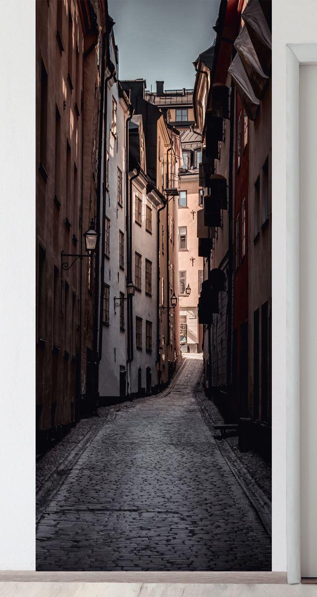 Панно на стену - Улочка магазин Интерьерные наклейки