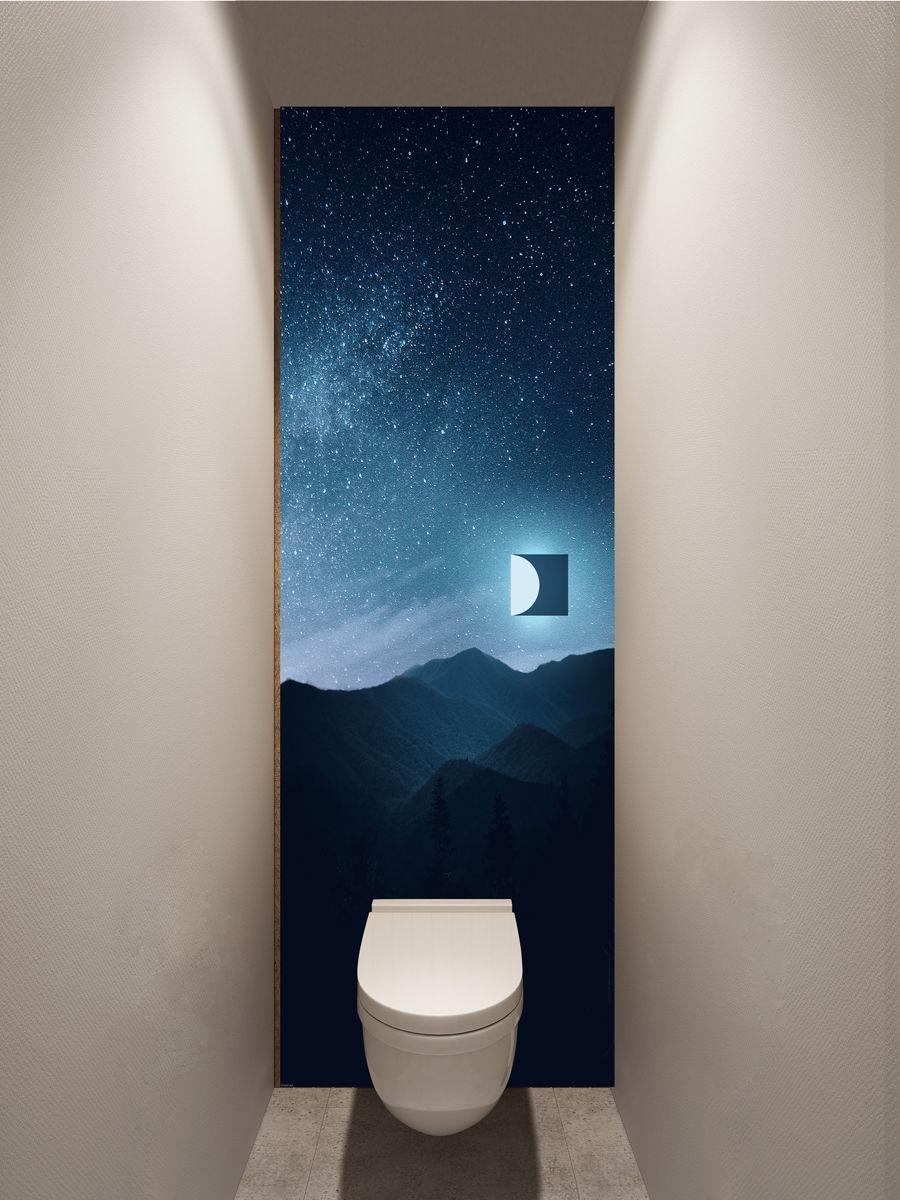 Фотообои в туалет - Квадрат луны магазин Интерьерные наклейки