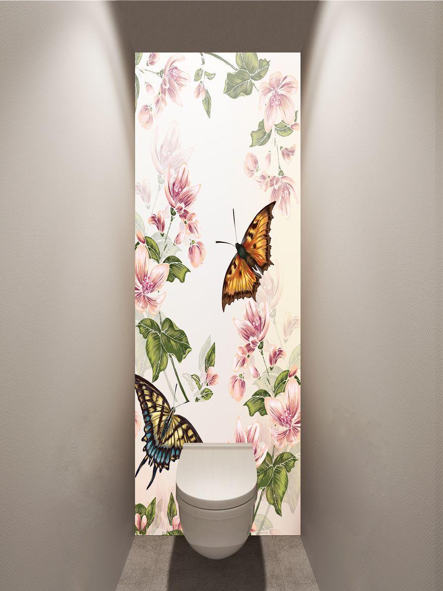 Фотообои в туалет - Floral-2 купить в магазине Интерьерные наклейки