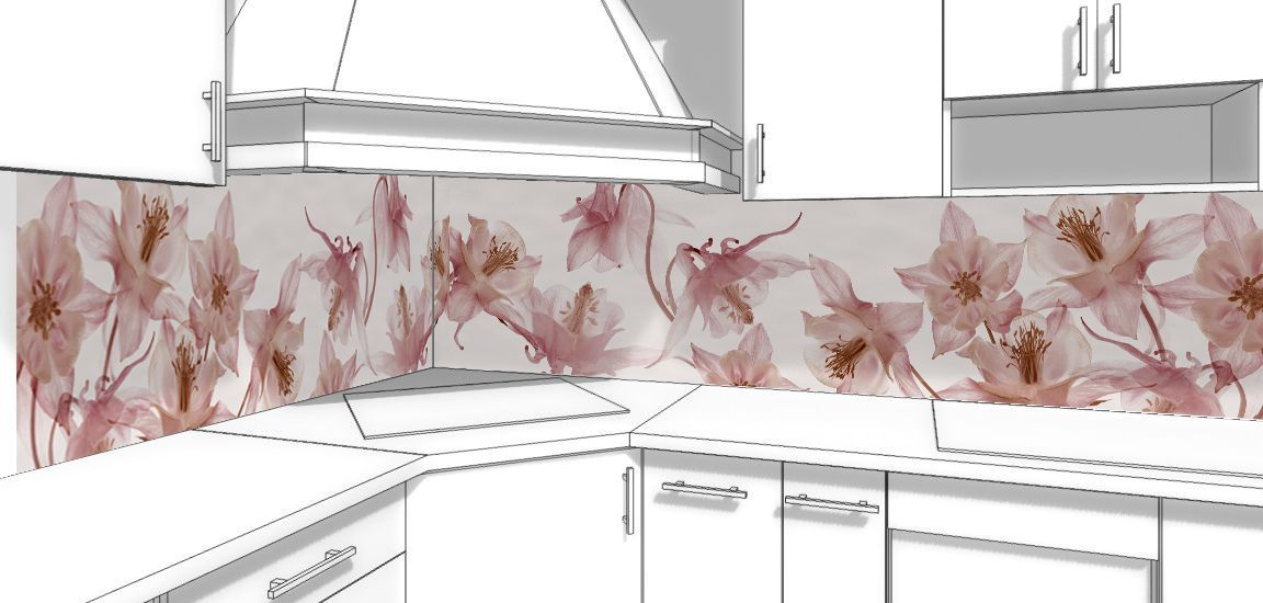 Kitchen Backsplash - Waltz of the flowers