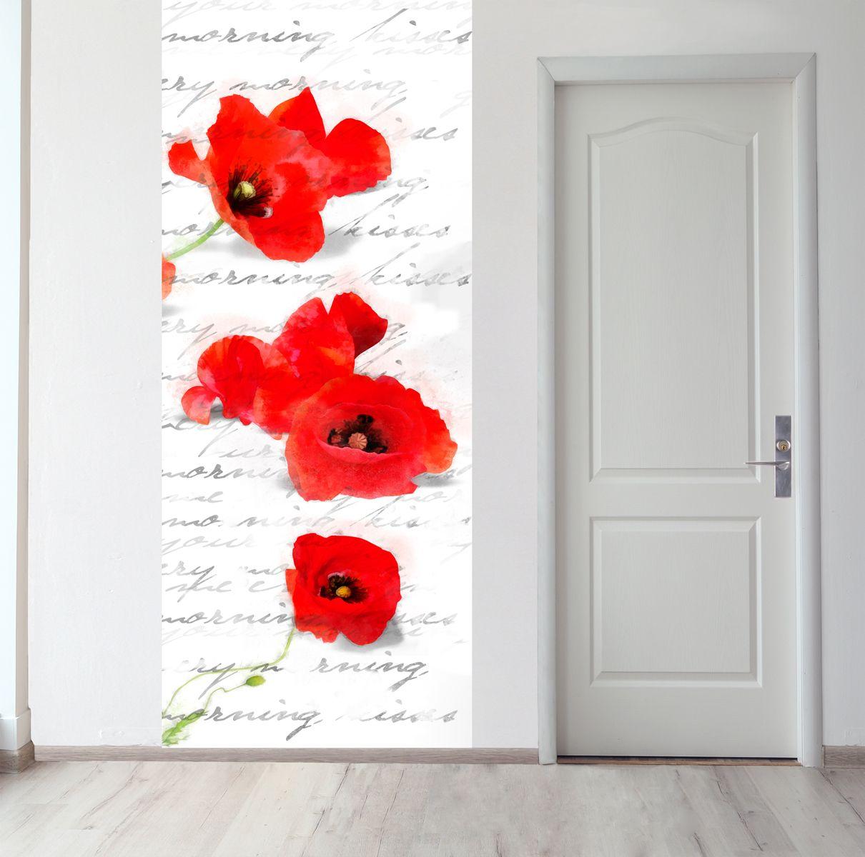 Панно на стену -   Зарисовка с маками магазин Интерьерные наклейки