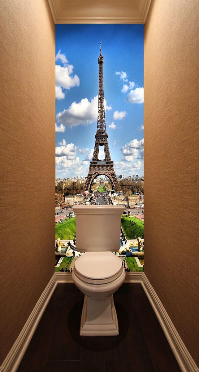Фотообои в туалет - Париж 2 магазин Интерьерные наклейки