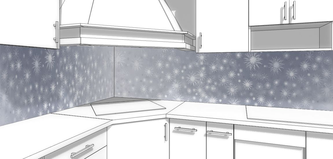 Kitchen Backsplash - Snow path