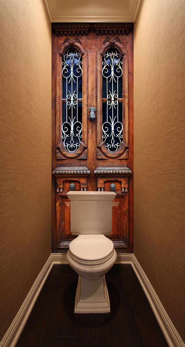Фотообои в туалет - Без стука не открывать магазин Интерьерные наклейки