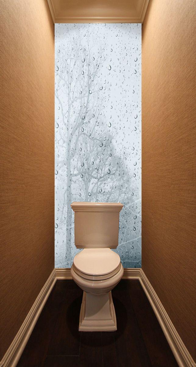 Фотообои в туалет - Ветер и дождь магазин Интерьерные наклейки
