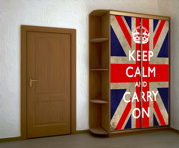 Wardrobe Stickers - Keep calm 2 by X-Decor