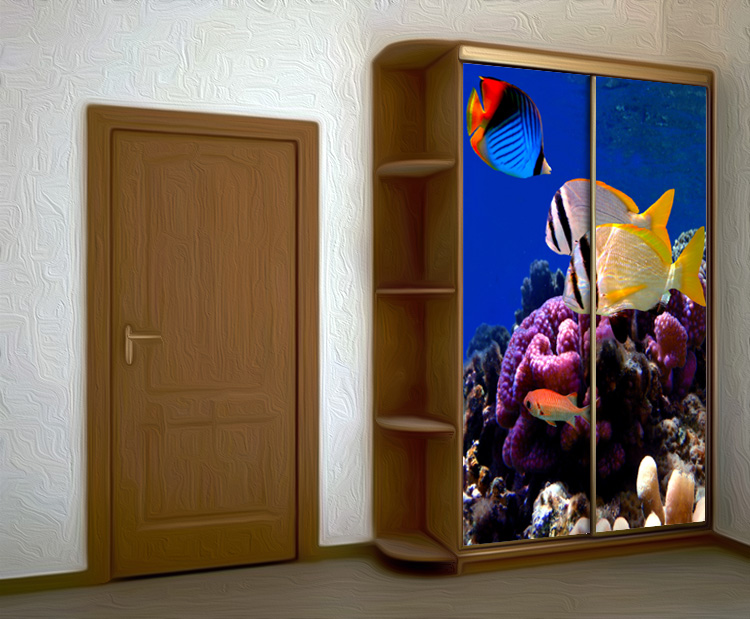 Wardrobe Stickers - Lagoon 2 by X-Decor
