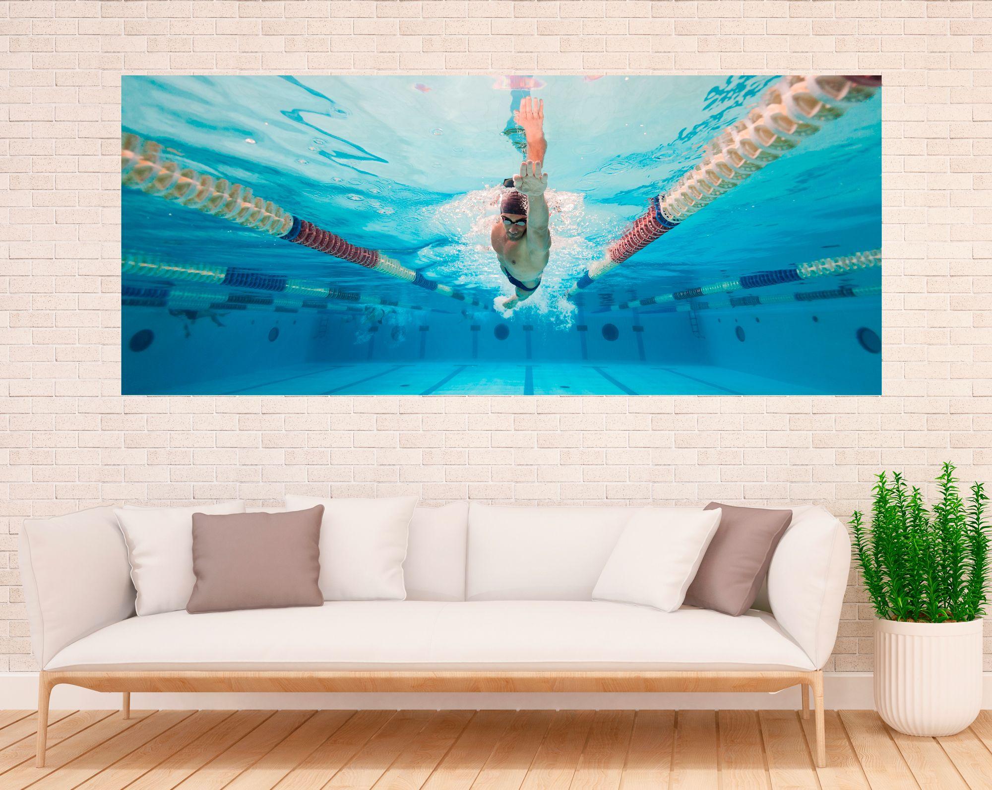 Панно на стену - Пловец купить в магазине Интерьерные наклейки