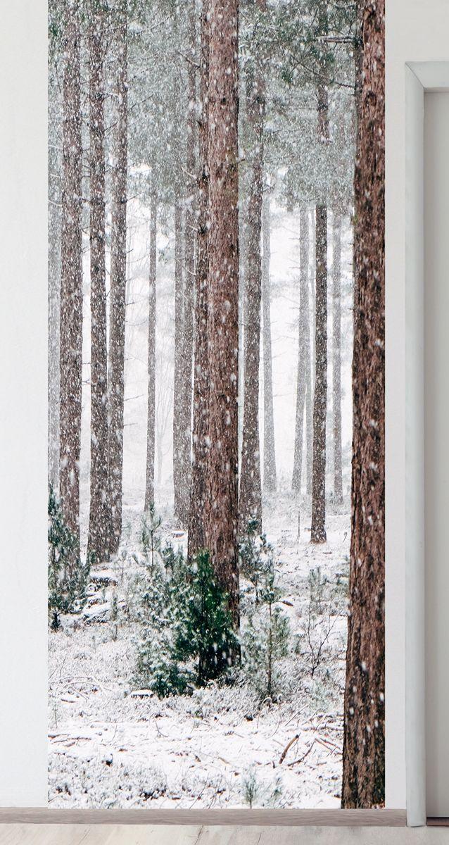 Панно на стену - Соснам не укрыться от снега магазин Интерьерные наклейки