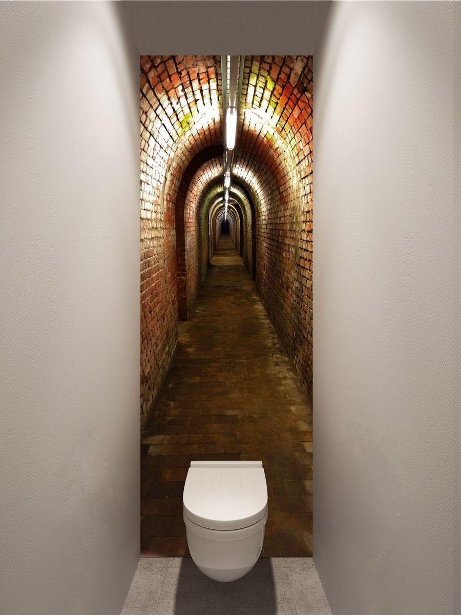 Фотообои в туалет - Подземный ход магазин Интерьерные наклейки