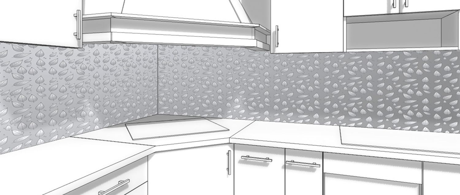 Kitchen Backsplash - Silver rain