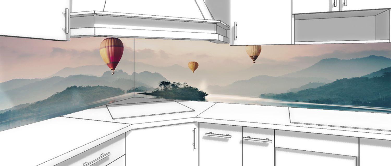 Фартук кухни - Воздухоплаватели купить в магазине Интерьерные наклейки