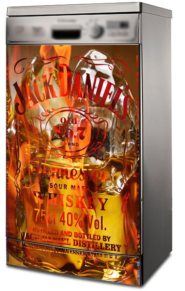 Наклейка на посудомоечную машину - Виски со льдом